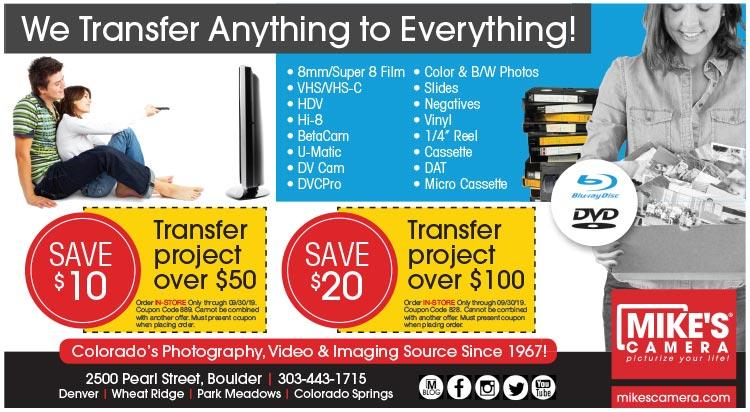 Coupon: Mike's Camera - Save $10 on Transfer Orders Over $50 - Few things in life are as powerful as photographs...