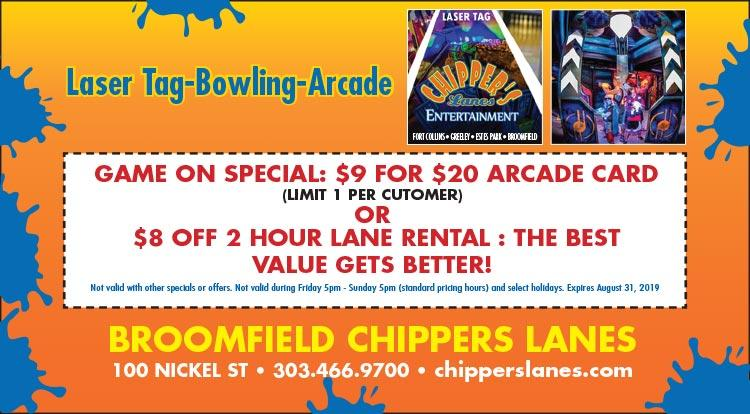 Coupon: Chippers Lanes - $9 For $20 Arcade Card -