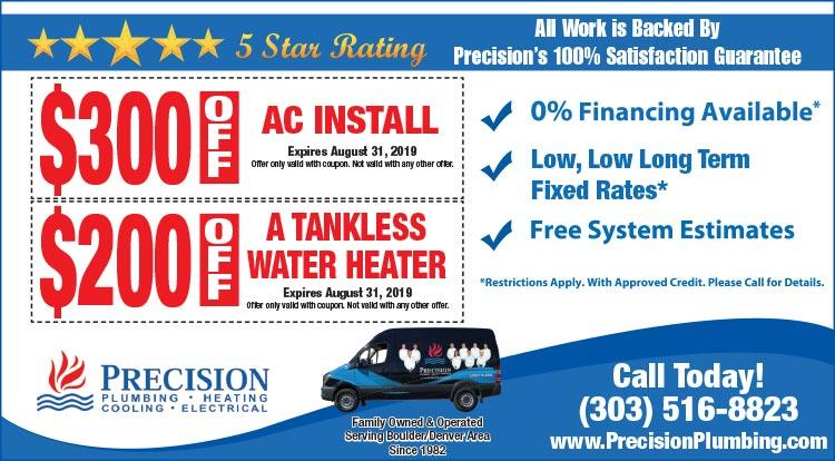 Coupon: Precision Heating -  - Save On Heating with Colorado's Trusted Experts