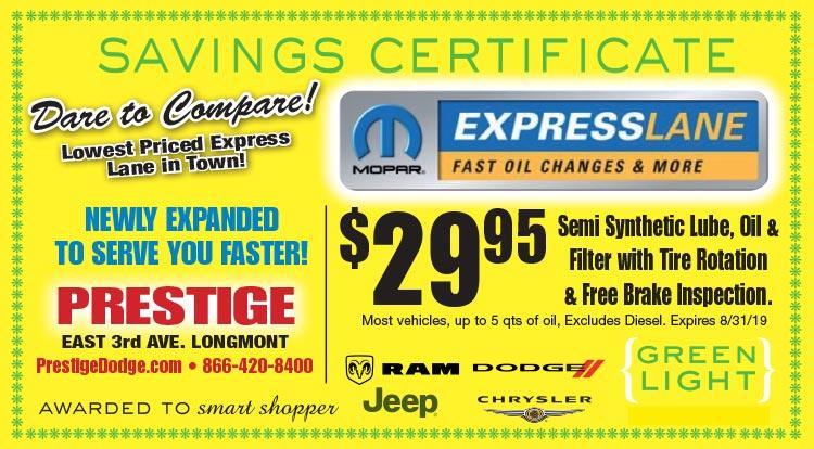 Coupon: Prestige Dodge -  - A Longmont New & Used RAM, Jeep, Dodge & Chrysler Car Dealer - Serving Boulder, Denver and Fort Collins, CO
