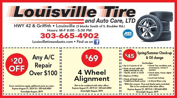 Coupon: Louisville Tire & Auto -  - Louisville Tire & Auto Care provides outstanding tire and auto repair services in Louisville, CO.