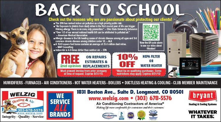 Coupon: Welzig Heating and Air -  - 24 Hour Emergency Service - Call 303-678-5576