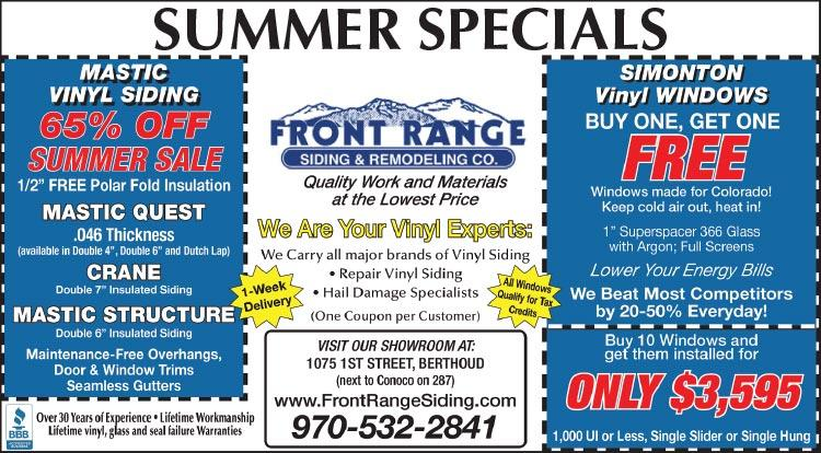 Coupon: Front Range Siding & Remodeling - Mastic Vinyl Siding - 65% Off Summer Sale - Quality Work and Materials at the LOWEST PRICES