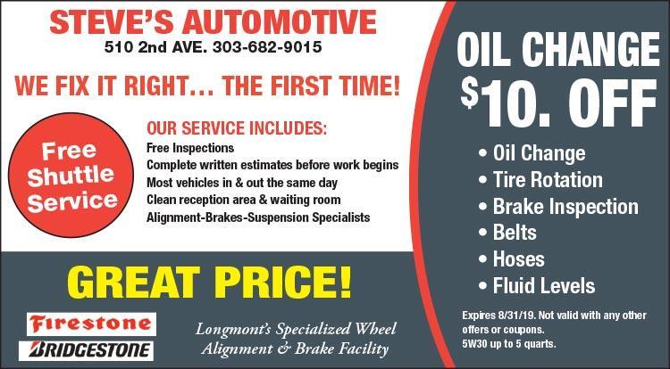 Coupon: Steve's Automotive -  - Steve's Automotive is a full service automotive repair and auto maintenance shop.