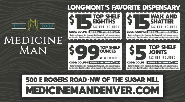 Coupon: Medicine Man Longmont - $15 Top Shelf Eighth -