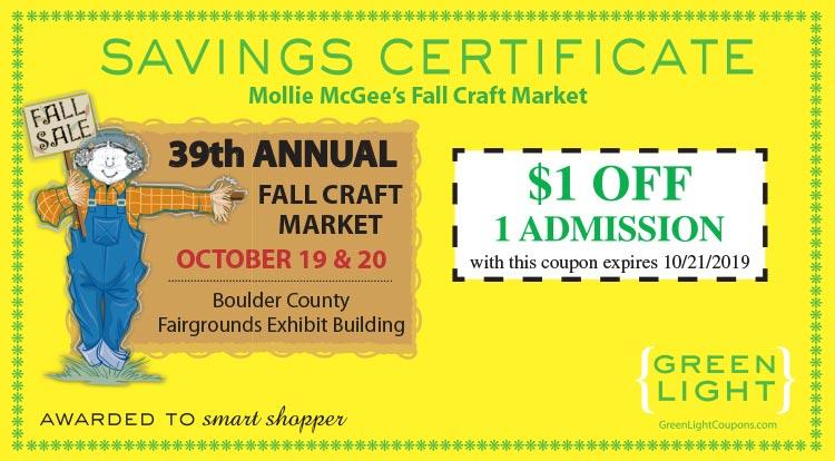 Coupon: Mollie Mcgees -  - The one craft show you don't want to miss!