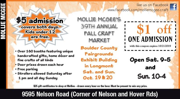Coupon: Mollie Mcgees - $1 Off Craft Fair Admission - The one craft show you don't want to miss!