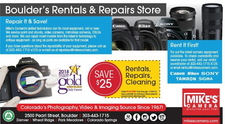 Coupon: Mike's Camera - Save $25 on Rentals, Repairs, or Cleanings - Few things in life are as powerful as photographs...