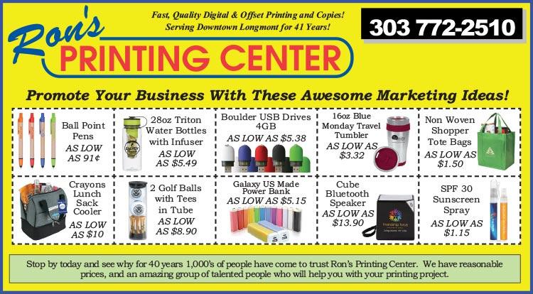 Coupon: Rons Printing Center - Promote Your Business with these Awesome Marketing Ideas - Our staff is easy to work with and has the experience and skill to handle an impressive range of print and print related projects.