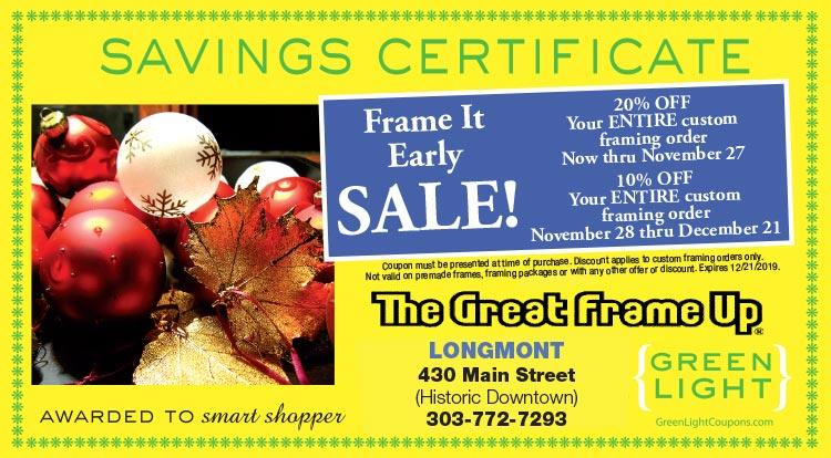 Coupon: The Great Frame Up - 20% Off Your Entire Custom Framing Order Through Nov. 27 - What is your style?