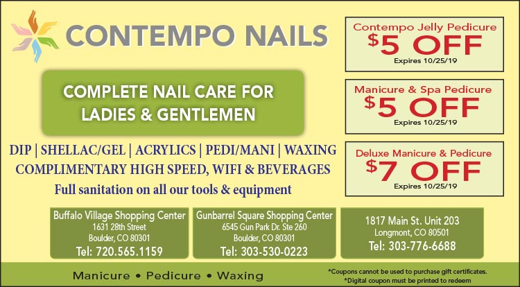 Coupon: Contempo Nails - Boulder - $5 Off Jelly Pedicure -