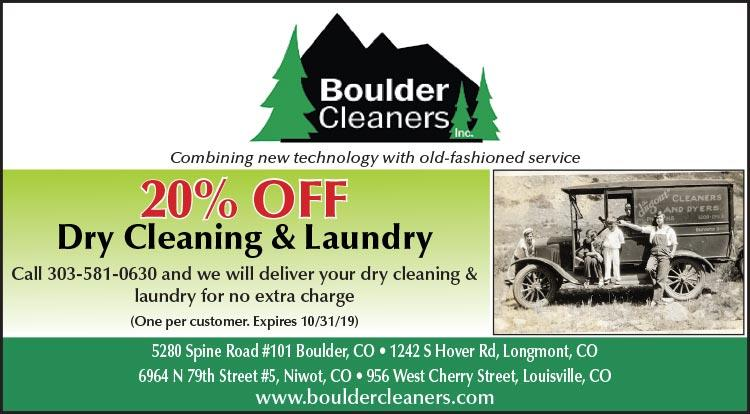 Coupon: Boulder Cleaners - 20% Off Dry Cleaning & Laundry -