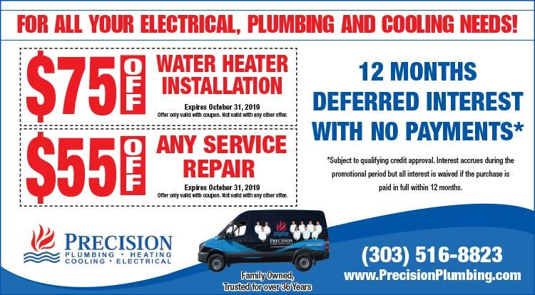 Coupon: Precision Heating - $55 Off Any Service Repair - Save On Heating with Colorado's Trusted Experts