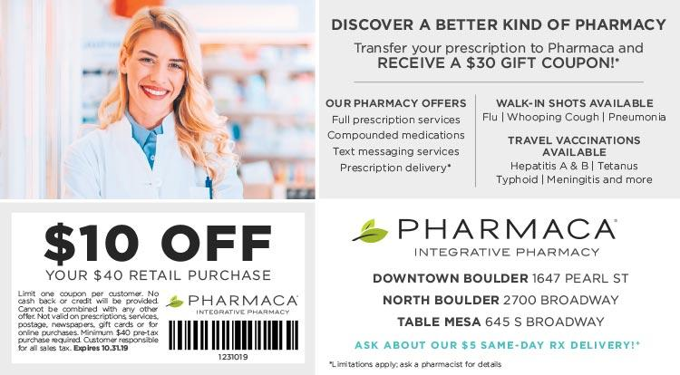 Coupon: Pharmaca Integrative Pharmacy - $10 Off Your $40 Retail Purchase - Integrative Pharmacy