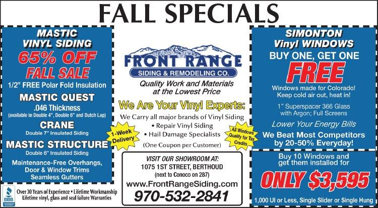Coupon: Front Range Siding & Remodeling - 65% Off Fall Sale - Quality Work and Materials at the LOWEST PRICES