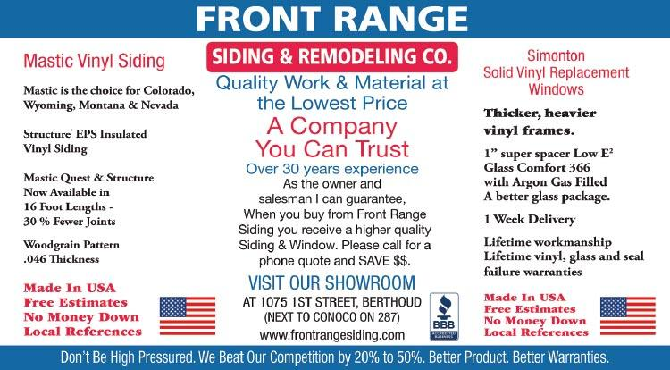 Coupon: Front Range Siding & Remodeling -  - Quality Work and Materials at the LOWEST PRICES