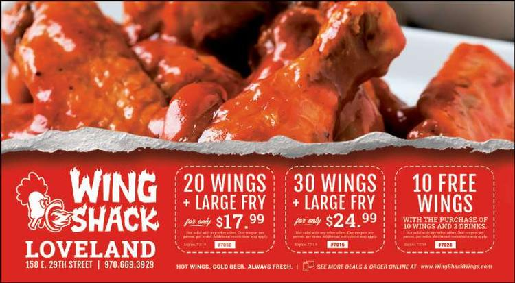 Wing Shack Coupons >> Wing Shack Loveland Coupons Loveland Reporter Herald Loveland