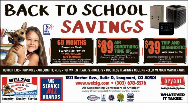 Coupon: Welzig Heating and Air - 60 Months Same as Cash - 24 Hour Emergency Service - Call 303-678-5576
