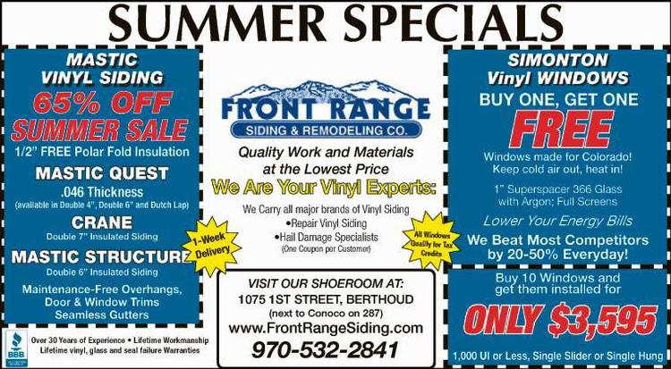 Coupon: Front Range Siding & Remodeling - We are your Vinyl Experts - Quality Work and Materials at the LOWEST PRICES