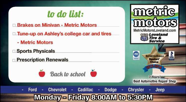 Coupon: Metric Motors - To Do List: -