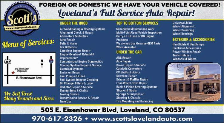 Coupon: Scott's Automotive & Service Centers - Loveland's Full Service Auto Repair - Full Service Auto Repair