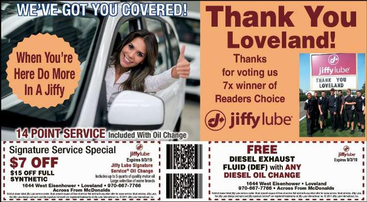 Coupon: Jiffy Lube - Loveland - Thank You Loveland! - Johnny's Jiffy Lube of Loveland