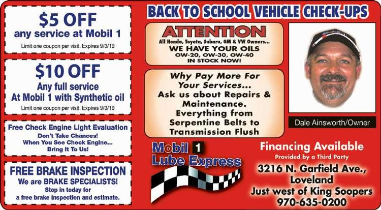 Coupon: Mobil 1 Lube Express - $5 Off Any Service - Changing the way Northern Colorado does car care!