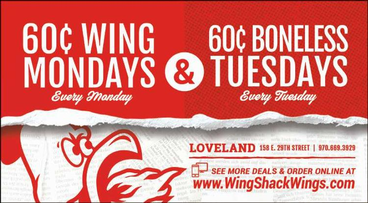 Wing Shack Coupons >> Wing Shack Loveland Coupons Loveland Reporter Herald Loveland