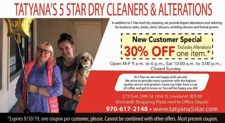 Coupon: Tatyana's 5 Star Dry Cleaners & Alterations - New Customer Special 30% Off -
