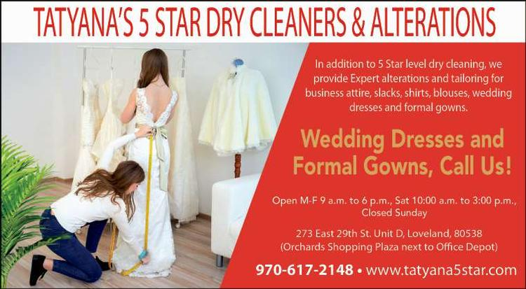 Coupon: Tatyana's 5 Star Dry Cleaners & Alterations - Wedding Dresses and Formal Gowns, Call Us! -