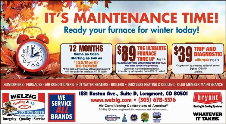 Coupon: Welzig Heating and Air - 72 Months Same as Cash - 24 Hour Emergency Service - Call 303-678-5576