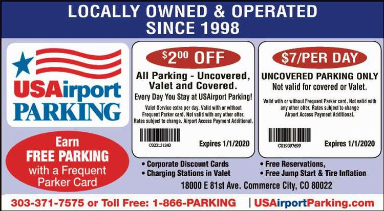 Coupon: USAirport Parking at DIA - $2 Off All Parking - First Class Convenience for DIA