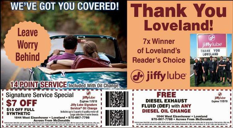 Coupon: Jiffy Lube - Loveland - Signature Service $7 - Johnny's Jiffy Lube of Loveland