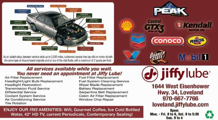 Coupon: Jiffy Lube - Loveland - All Services While You Wait - Johnny's Jiffy Lube of Loveland