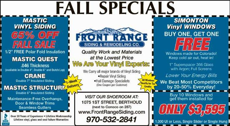 Coupon: Front Range Siding & Remodeling - Mastic® Siding 65% Off - Quality Work and Materials at the LOWEST PRICES