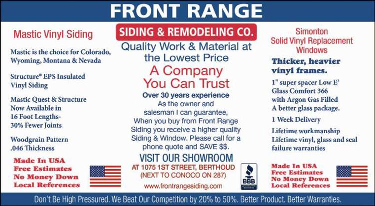 Coupon: Front Range Siding & Remodeling - A Company You Can Trust - Quality Work and Materials at the LOWEST PRICES