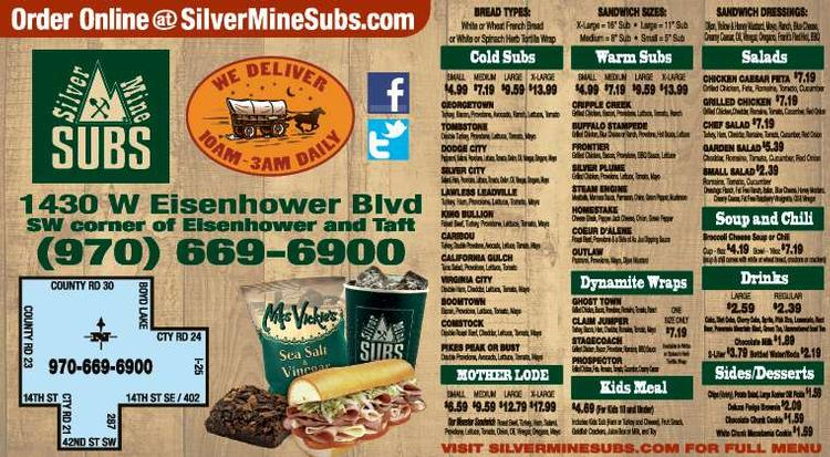 Coupon: Silver Mine Subs (RH) - Order Online at SilverMineSubs.com -