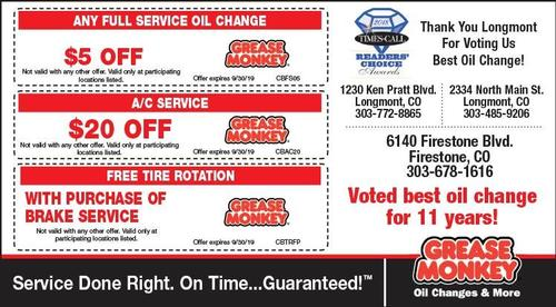 Coupon: Grease Monkey - $5 Off Any Full Service Oil Change