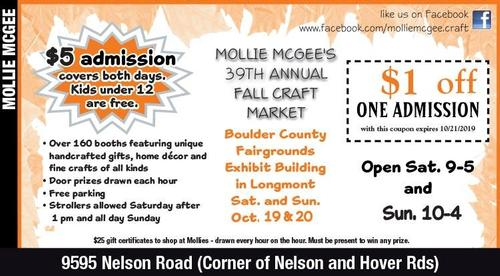 Coupon: Mollie Mcgees - $1 Off Craft Fair Admission
