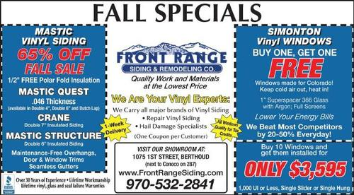 Coupon: Front Range Siding & Remodeling - 65% Off Siding - Fall Sale!