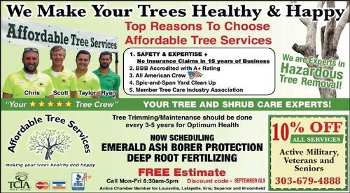 Coupon: Affordable Tree Services, LLC - 10% Off All Services for Active Military, Veterans, and Seniors