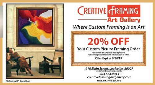 Coupon: Creative Framing & Art Gallery - 20% Off Custom Framing