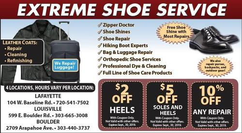 Coupon: Extreme Shoe - 10% Off Any Repair