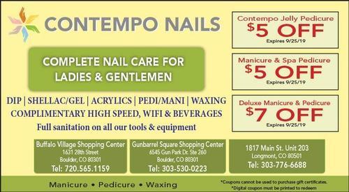 Coupon: Contempo Nails - Boulder - $5 Off Jelly Pedicure