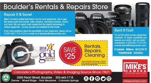 Coupon: Mike's Camera - Save $25 on Rentals, Repairs, or Cleanings