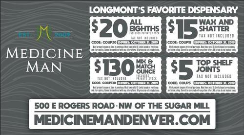 Coupon: Medicine Man Longmont - $20 All Eighths