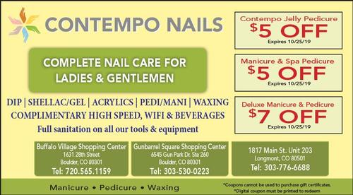 Coupon: Contempo Nails - Boulder - $5 Off Jelly Pedicure