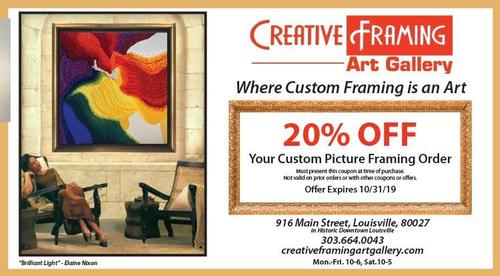 Coupon: Creative Framing & Art Gallery - 20% Off Custom Framing