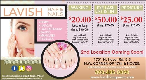 Coupon: Lavish Tan & Nail Salon - Save on Waxing, Lash Tinting, and Pedicures