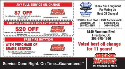 Coupon: Grease Monkey - $7 Off Any Full Service Oil Change